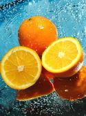 Trois oranges fraîches — Photo