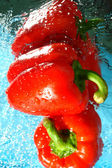 Two red pepper — Stock Photo