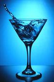 Sklenice martini s logem — Stock fotografie