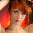 Young girl with redhead portrait — Stock Photo #2606870