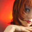 Young woman with red hair portrait — Stock Photo