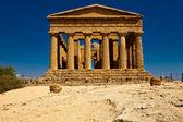 Sicilya agrigento vadide tapınağın — Stok fotoğraf