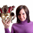 Stock Photo: Girl with mask