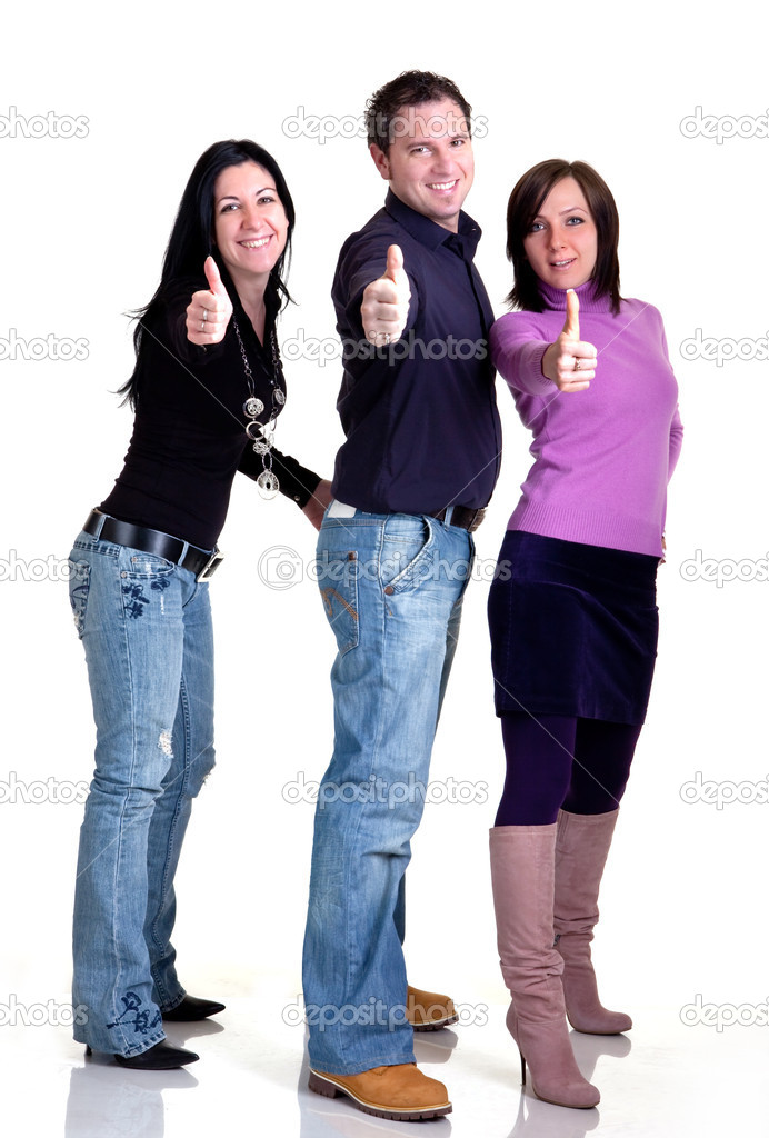 Three persons are securing you  Stock Photo #1986053
