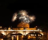 Fireworks in Rome — Stock Photo