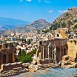 ancient theater in taormina — Stock Photo