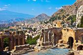 Ancient Theater in Taormina — Stock Photo