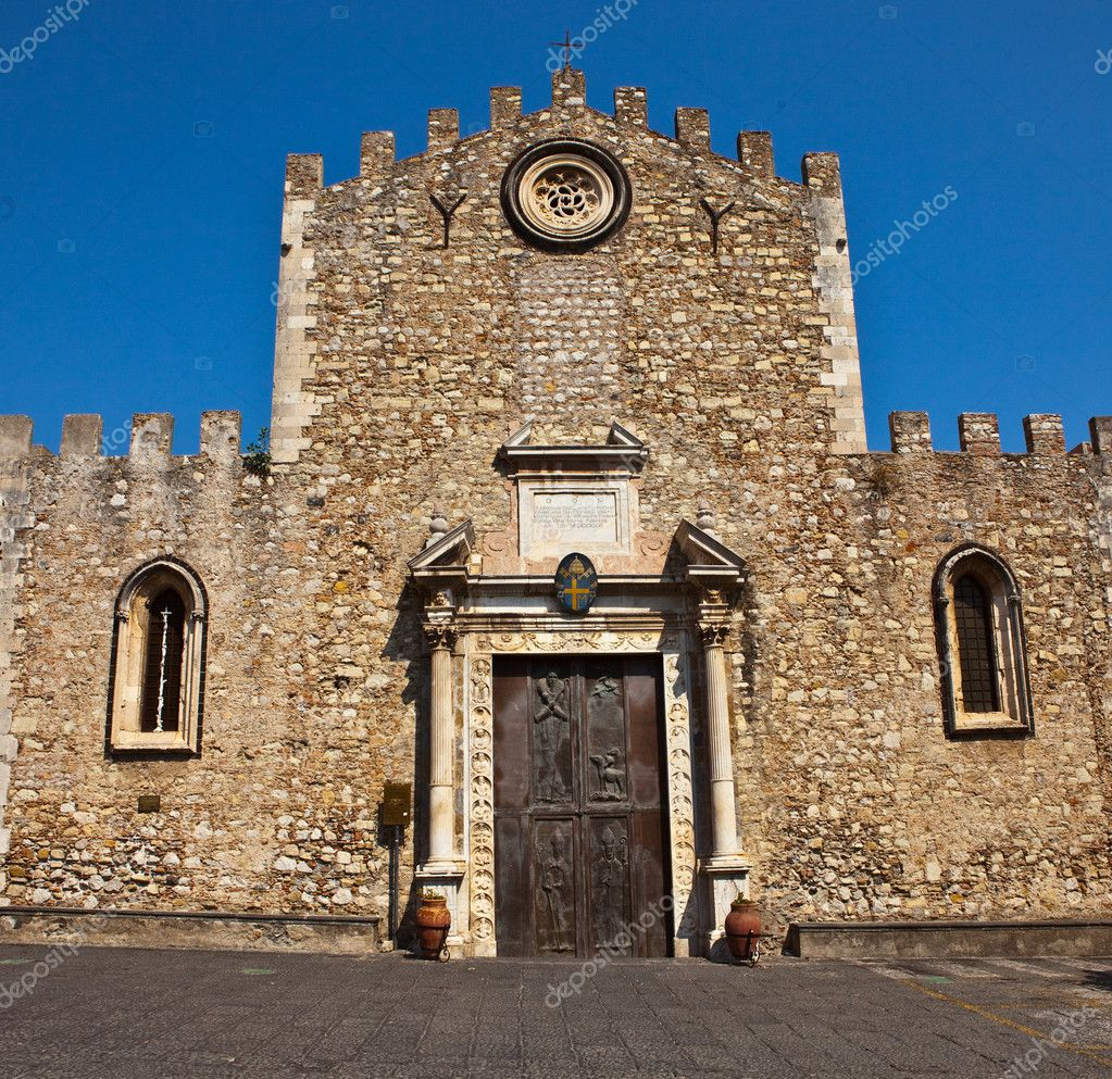 Photo of a church in taormina sicily  Stock Photo #2067258