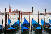 Italy, Venice: gondolas — Stock Photo