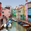 Italy, Venice: Burano Island - Stock Photo