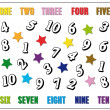 Royalty-Free Stock Photo: Kids game: learn to count in English