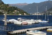 Italy, Cernobbio (CO): the harbour — Stock Photo