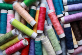 Coloured cotton threads — Stock Photo