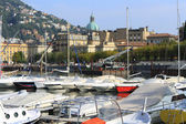 Italy, Como: the commercial harbour — Stock Photo