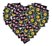 Heart-shaped collage — Stock Photo