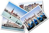 Collage i Venedig, Italien — Stockfoto