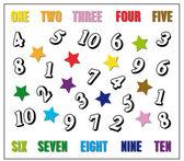 孩子游戏: 学会用英语数数 — 图库照片