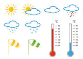 Meteo symbols — Stock Photo