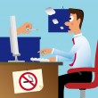 Don't smoke in the office! — Stock Photo