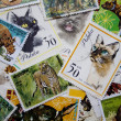 World stamps: animals - Stock Photo