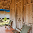 Bamboo Hut at a Jungle Resort - Stock Photo