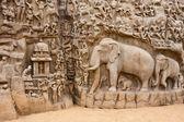 Arjuna's Penance Monolith — Stock Photo