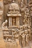 Arjuna w pokutę płaskorzeźba — Zdjęcie stockowe