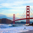 Golden gate bridge al tramonto — Foto Stock #2194701