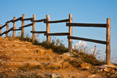 гора лестницы и ограждения — Стоковое фото