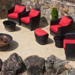 Elegant Backyard in a Napa Valley Winery — Stock Photo