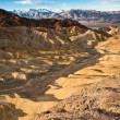 Golden Canyon at Sunrise in Death Valley - Stock Photo