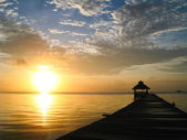Sunburst over Belize — Stock Photo