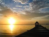Sunburst over Belize — Stock Photo