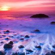 Ocean Sunset Panorama - Stock Photo