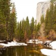 Merced River and El Capitan — Stock Photo #2606751