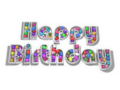 Balloon birthday — Stock Photo