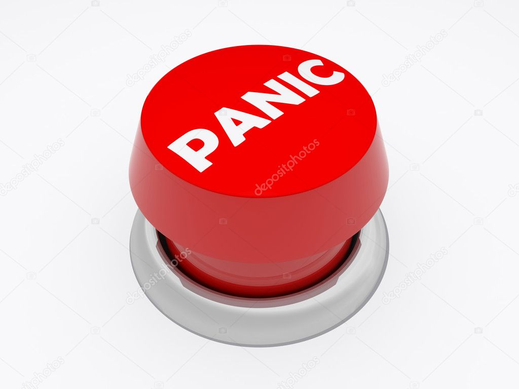 A Panic button isolated on white — Stock Photo #2011214