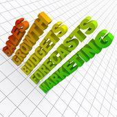 бизнес-диаграммы — Стоковое фото