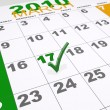 Stock Photo: St Patricks calendar