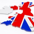 Stockfoto: UK Map