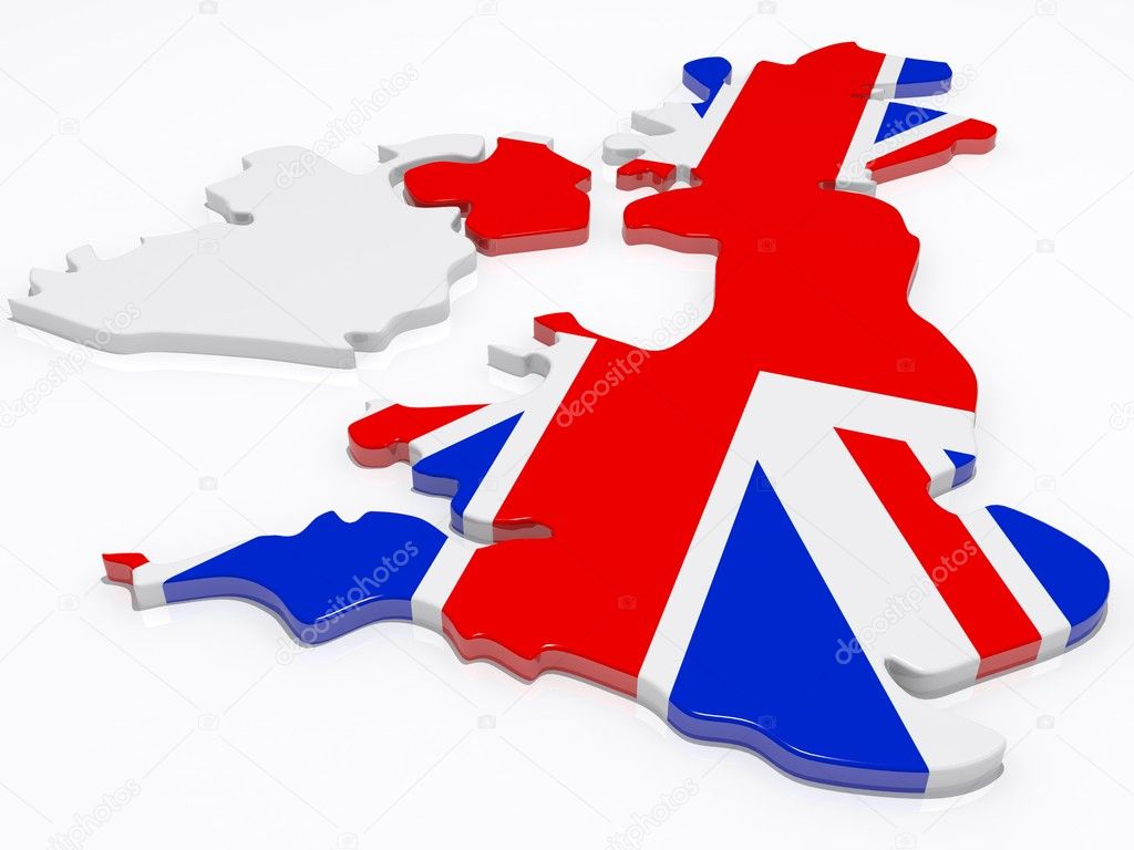 The british isles covered in the union jack flag — Stock Photo #2291937