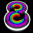 Colorful eight — Stockfoto
