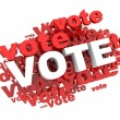 Stock Photo: Vote vote vote