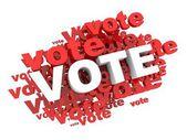 Głosuj głosuj głosuj — Zdjęcie stockowe
