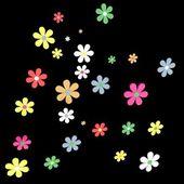 Falling daisies — Stock Photo