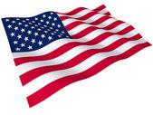 Vlajka spojených států amerických — Stock fotografie