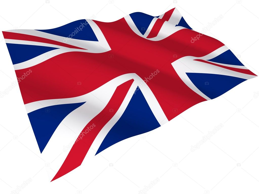 The flag of the United Kingdom isolated on white — Stock Photo #2549806