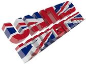 United Kingdom text — Foto de Stock