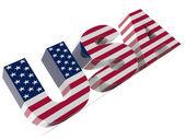 Tekst w stany zjednoczone ameryki — Zdjęcie stockowe