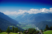 Panorama of austrian mountains — Stock Photo